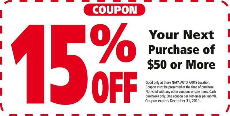 Napa discount coupons
